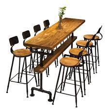 Industrial style retro bar table coffee shop solid wood wall high bar  tables-in Bar Tables from Furniture on Aliexpress.com | Alibaba Group