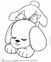 Kleurplaat Puppies