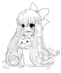 Small Picture Anime Coloring Pages Coloring page manga girl with flowers by