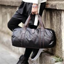 mens leather duffle travel bag bags uk tote shoulder handbag leather weekend bag