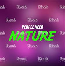 Les Gens Ont Besoin De Nature Citation De Vie Avec Le Vecteur De