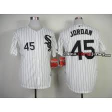 Sox Jordan Baseball Jersey White Michael