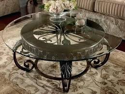 round coffee and end table sets metal round cocktail table with glass top by signature design