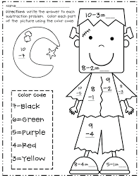 coloring worksheets for grade 1 free color by number printable