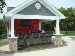 pool house with outdoor kitchen plans. Pool House Outdoor Kitchen Complete Granite Counters Bbq Refrig With Plans