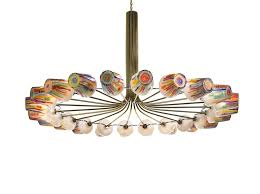 led blown glass chandelier candy ring chandelier by lasvit