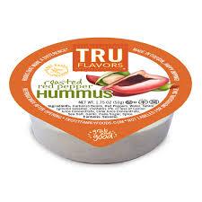 tru flavors roasted red pepper hummus cups
