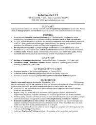 Biomedical Engineer Sample Resume   Letter Example