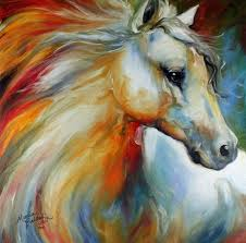 horse angel no 1 by marcia baldwin watercolor paintingscanvas