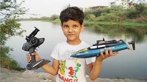 Kids Play With Camera <b>Rc Boat</b> Remote Control Unboxing & Testing ...