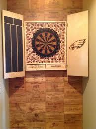Dart Board Cabinet With Chalkboard Dart Board Cabinet Wine Lids John Can Make It