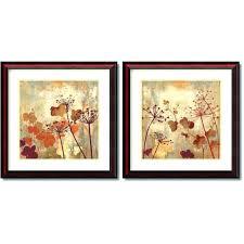 wall art 2 piece set wall decor set of 2 art wild field by 2 piece