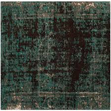 safavieh classic vintage teal brown 6 ft x 6 ft square area rug