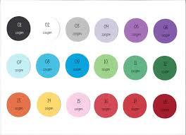 Optix Paper Colour Chart Place Cards Blank Multi Colours Weddings Guest Names