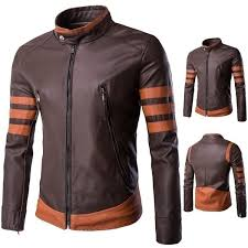 wish men pu leather jacket men s casual large size leather motorcycle jackets