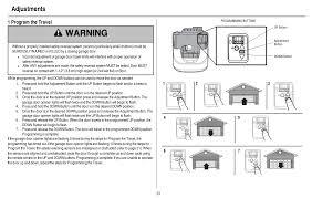 liftmaster garage door opener program the travel of door
