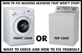 washing machine will not start what