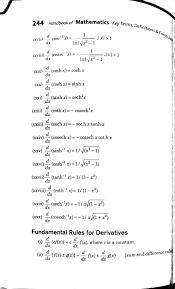 Differentiation Formulas For Class 12 Pdf Class 12 Easy