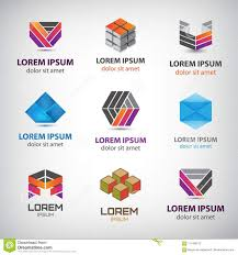 Abstract Design Company Business Icons Set Abstract Logos Company Idntity Design