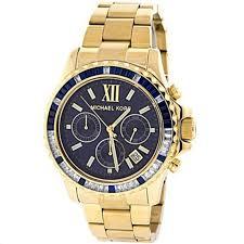 michael kors everest mk5754 blue mens gold chronograph watch michael kors mk5754 mens golden everest chronograph watch