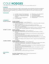Child Care Resume Teaching Resume Examples Best Of Child Care Resume Sample 100 Resume 80