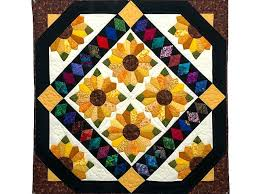 Amish Wall Hanging Quilts Amish Quilted Wall Hanging Amish Wall ... & Sunflower Bouquet Wall Hanging Exquisite Amish Quilt From Lancaster Pa  Specially Made By An Amish Woman ... Adamdwight.com