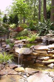Waterfall Garden For Koi Pond
