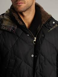 Lyst - Barbour Down Wax Quilted Jacket in Black for Men & Gallery Adamdwight.com
