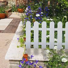 finderomend 8pcs garden fence white