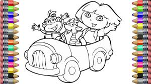 Coloring Book For Kids Coloring Pages Dora And Friends Painting