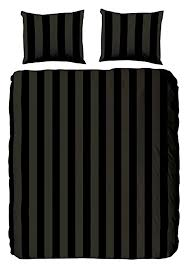 descanso king size 100 percent cotton satin duvet cover with stripes black