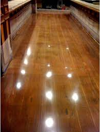 this wood floor is actually polished concrete