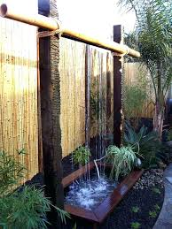 diy water wall fountain best bamboo ideas on within outdoor build
