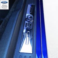 05-14 FORD MUSTANG BILLET DOOR SILLS 5.0 LOGO - O&E Speed Shop