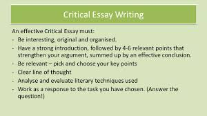 national critical essay revision review understanding the critical essay writing an effective critical essay must be interesting original and organised