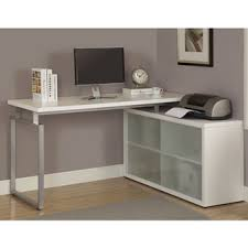 white l shaped desk with frosted glass cheap l shaped office desks