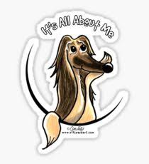 afghan hound it s all about me sticker