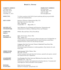 cv sample undergraduate resume template
