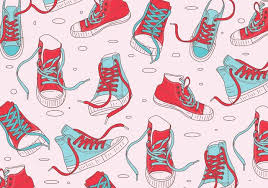 Shoe Pattern Cool Canvas Shoes Vectors Download Free Vector Art Stock Graphics Images