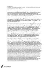 international crime essay year hsc legal studies thinkswap international crime essay