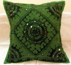 Small Picture Embroidered Ethnic Indian Cushion Covers Decorated Toss Pillows