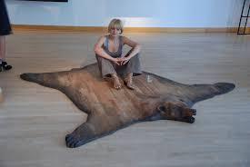 surprising bear skin rug pictures design ideas