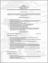 Warehouse Resume Impressive Resume Examples For Warehouse Worker Warehouse Worker Resume