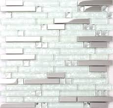 glass stone mosaic tile backsplash installation strip silver stainless steel mixed clear tiles for kitchen bathroom glass mosaic tile installation