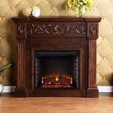 boston loft furnishings 44 5 in w 4700 btu espresso wood veneer fan forced