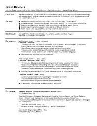 computer tech degree tech resume templates objective profile key skills experience