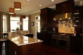 Kitchen Dark Cabinets Light Granite For Solid Surface Countertops With Drop  In Stainless Steel Sink And
