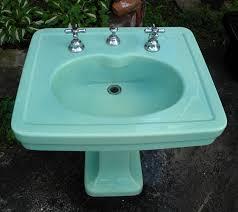 kohler spring green pedestal sink