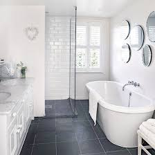 grey and white bathroom. bathroom | georgian country house in essex tour photo gallery ideal home grey and white h