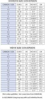 European Shoe Sizing Online Charts Collection